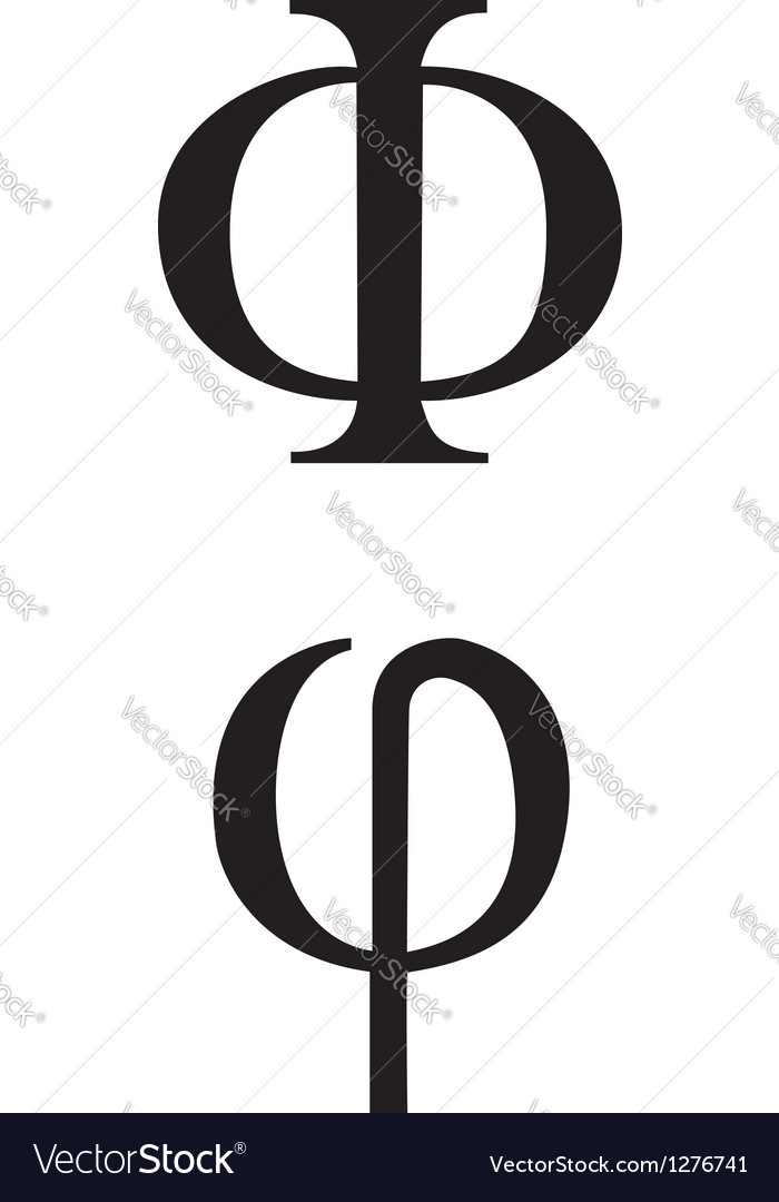 Greek symbol phi vector | Price: 1 Credit (USD $1)