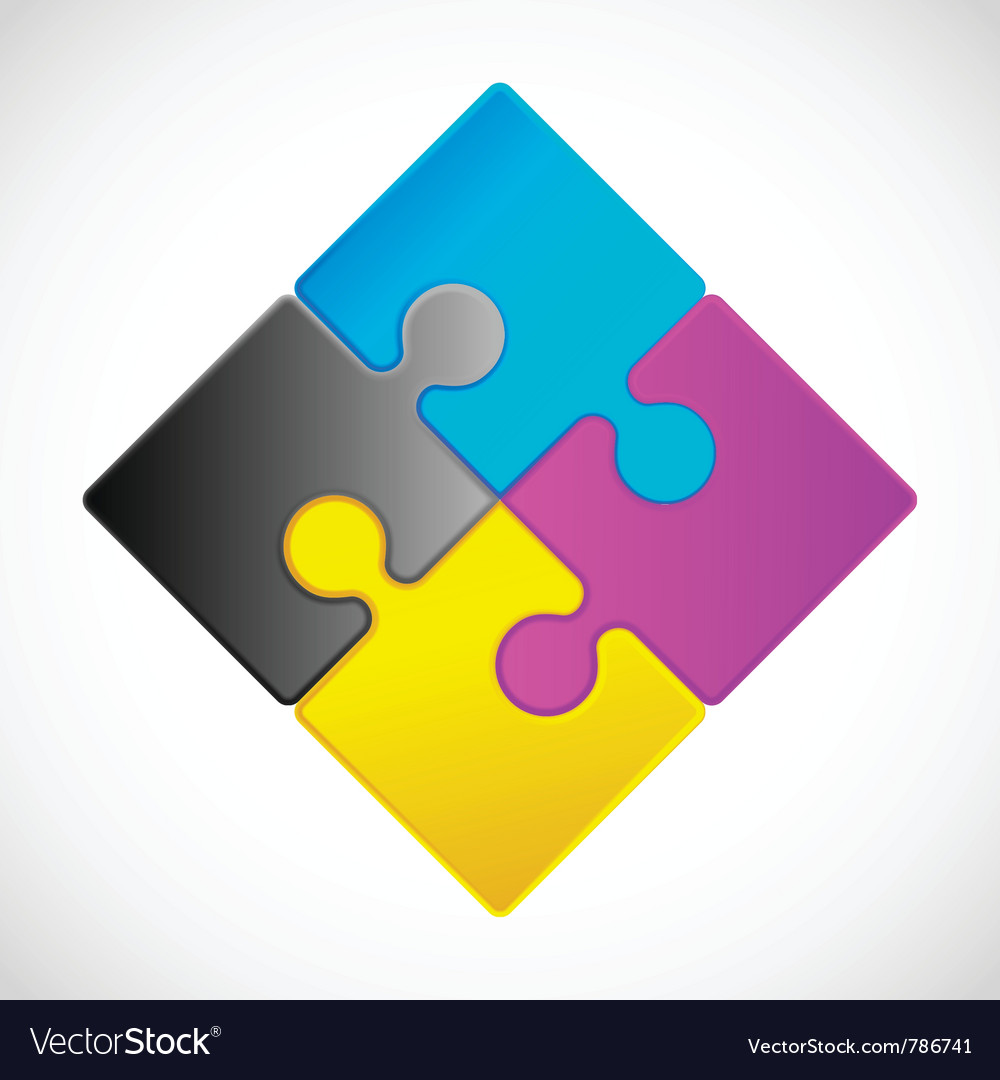 Jigsaw puzzle icon vector | Price: 1 Credit (USD $1)