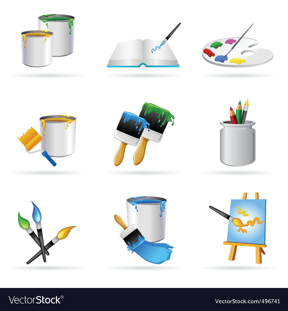 Painting icons vector | Price: 1 Credit (USD $1)