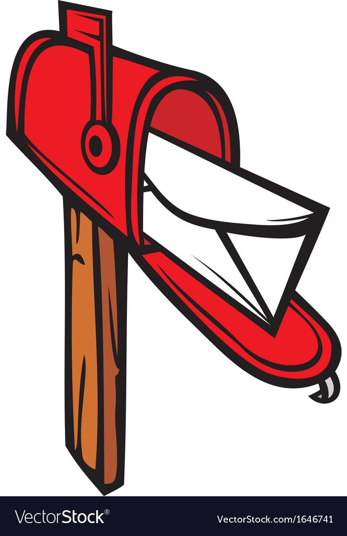 Post box mailbox icon vector | Price: 1 Credit (USD $1)