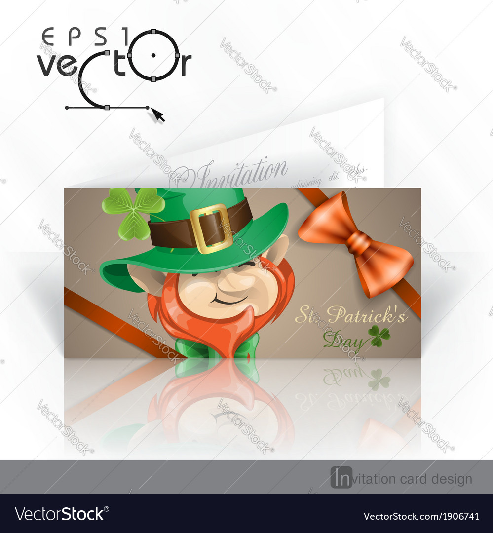 St patricks day leprechaun face vector | Price: 3 Credit (USD $3)