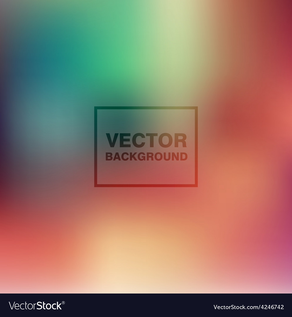 Abstract colorful blurred backgrounds vector | Price: 1 Credit (USD $1)