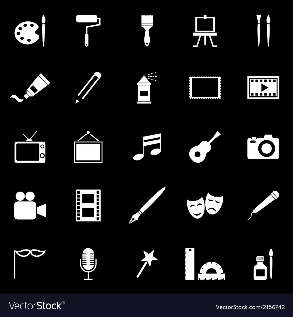 Art icons on black background vector   Price: 1 Credit (USD $1)