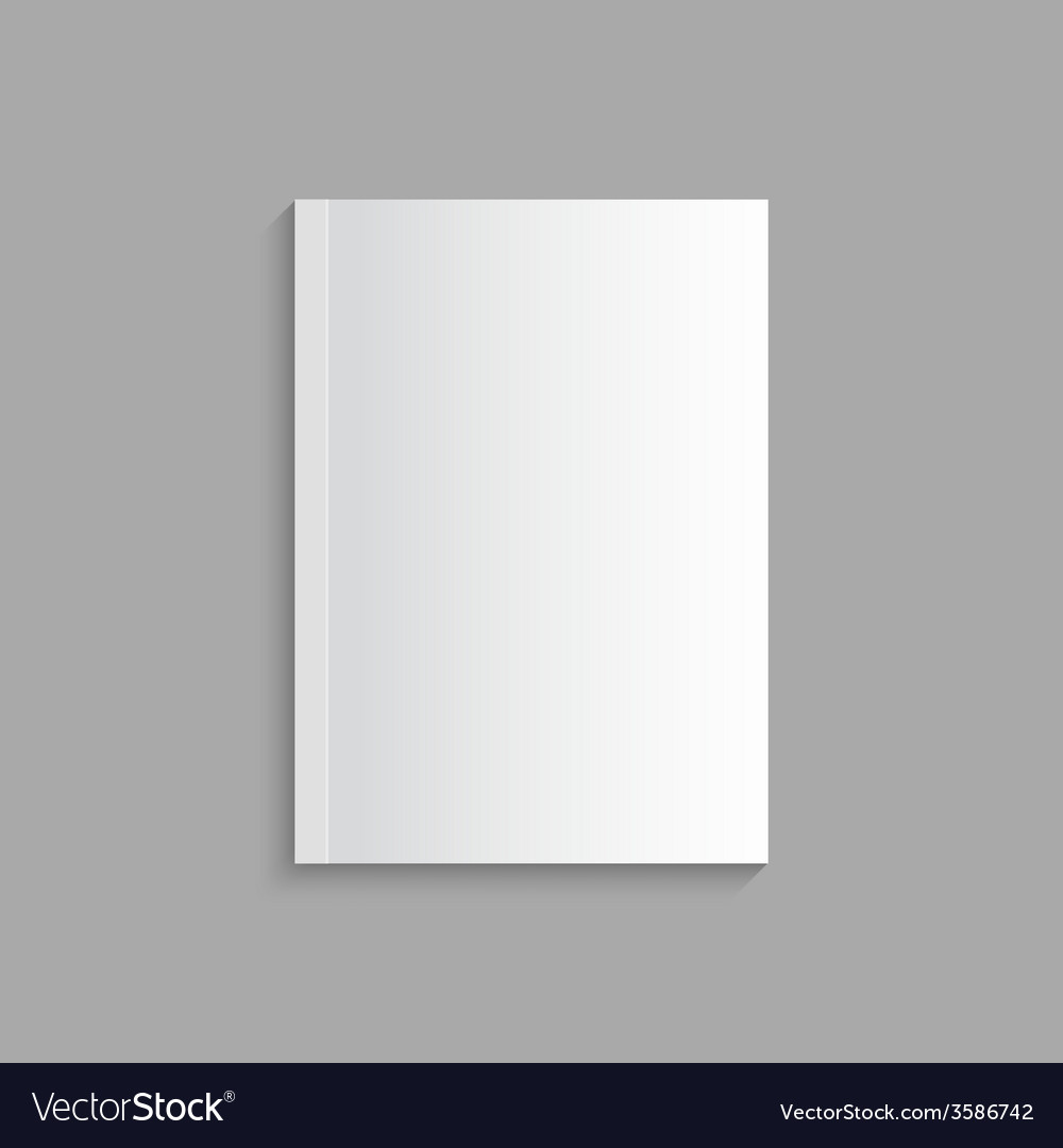 Blank empty magazine template vector | Price: 1 Credit (USD $1)