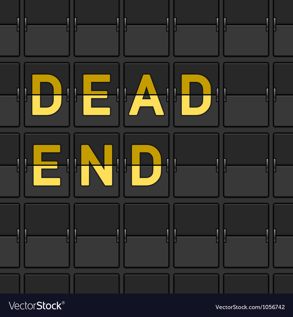 Dead end flip board vector | Price: 1 Credit (USD $1)
