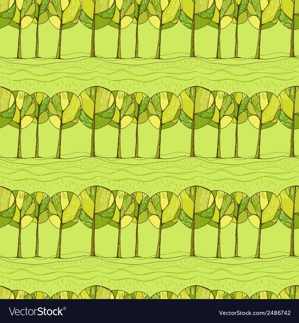 Decorative trees background vector | Price: 1 Credit (USD $1)