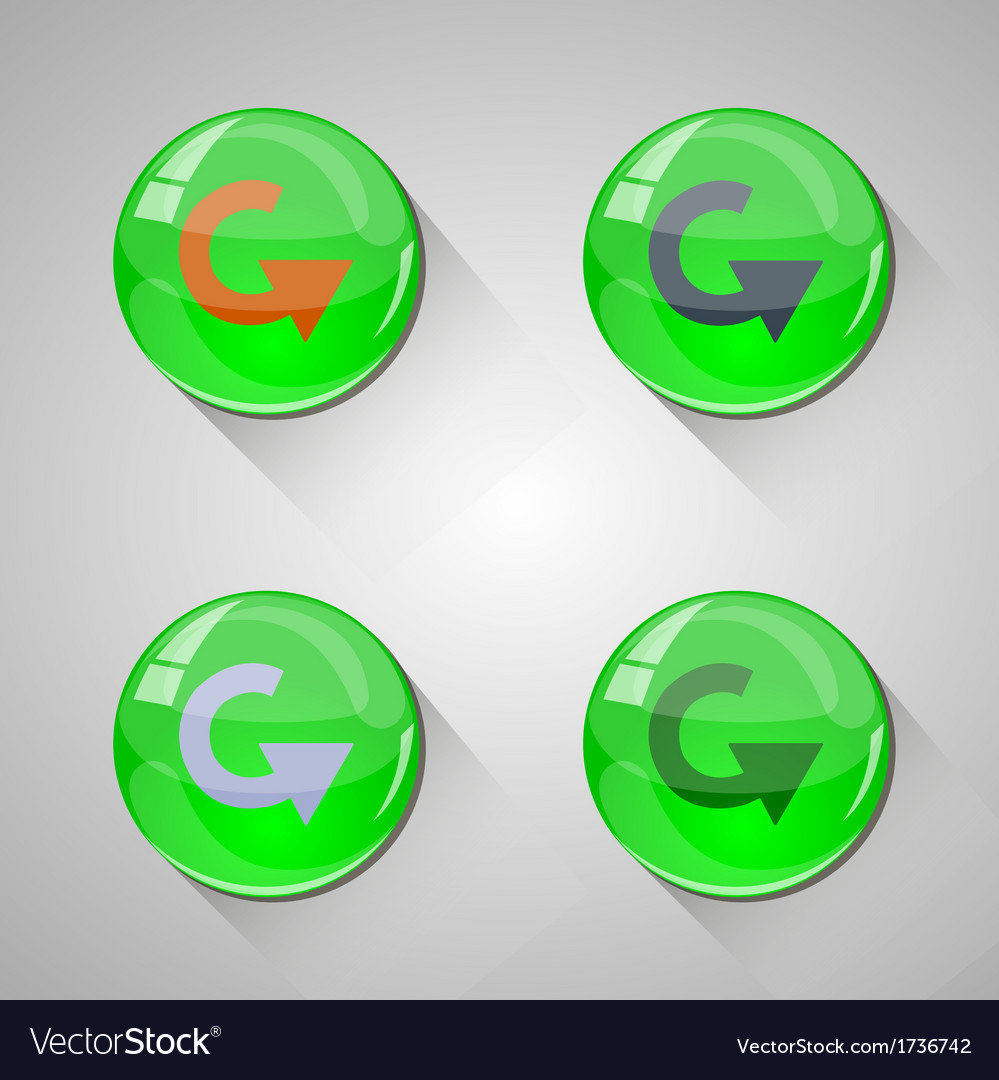 Detailed glossy arrow buttons with long shadow vector | Price: 1 Credit (USD $1)