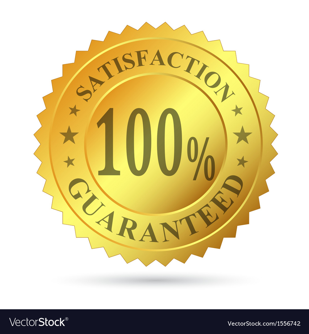 Gold badge satisfaction guarantee vector | Price: 1 Credit (USD $1)