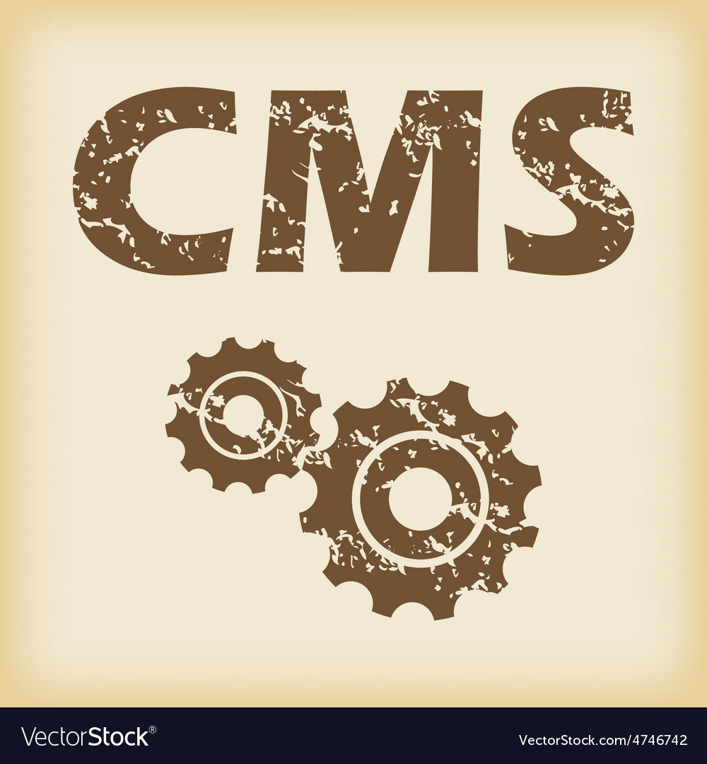 Grungy cms settings icon vector | Price: 1 Credit (USD $1)