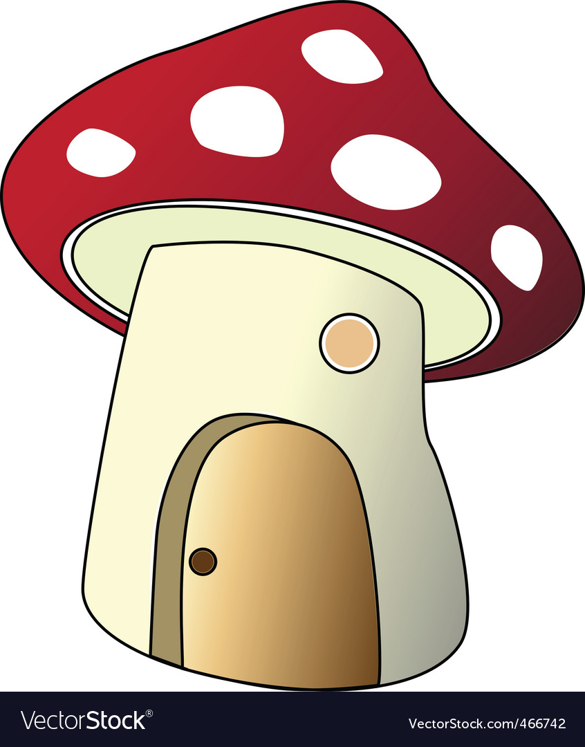 Mushroom house vector | Price: 1 Credit (USD $1)