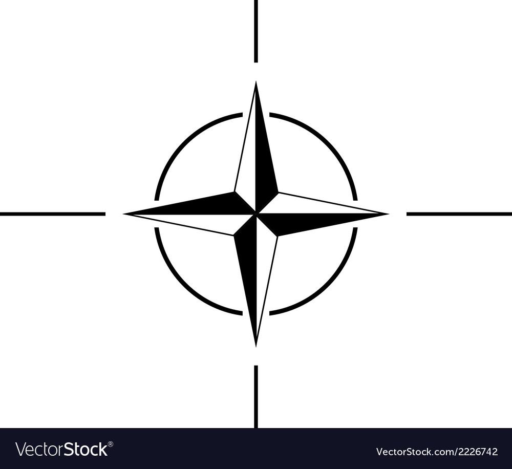 Nato sign icon vector | Price: 1 Credit (USD $1)
