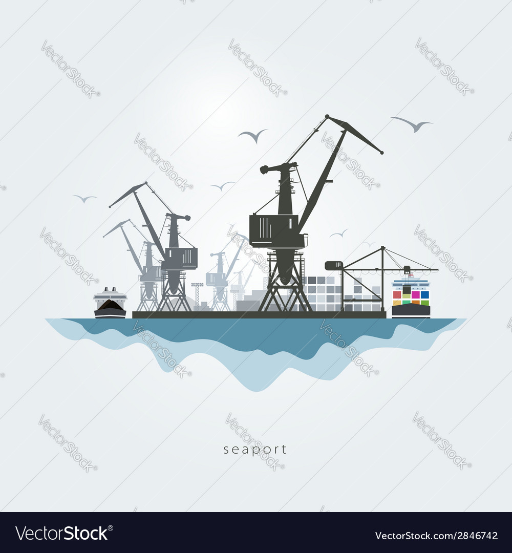 Seaport vector | Price: 1 Credit (USD $1)
