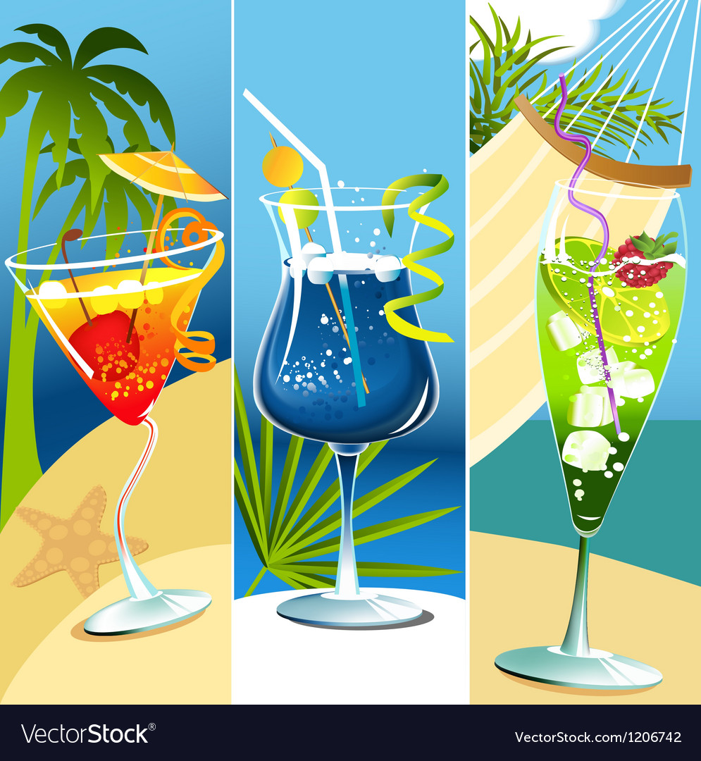 Tropical drinks vector | Price: 1 Credit (USD $1)