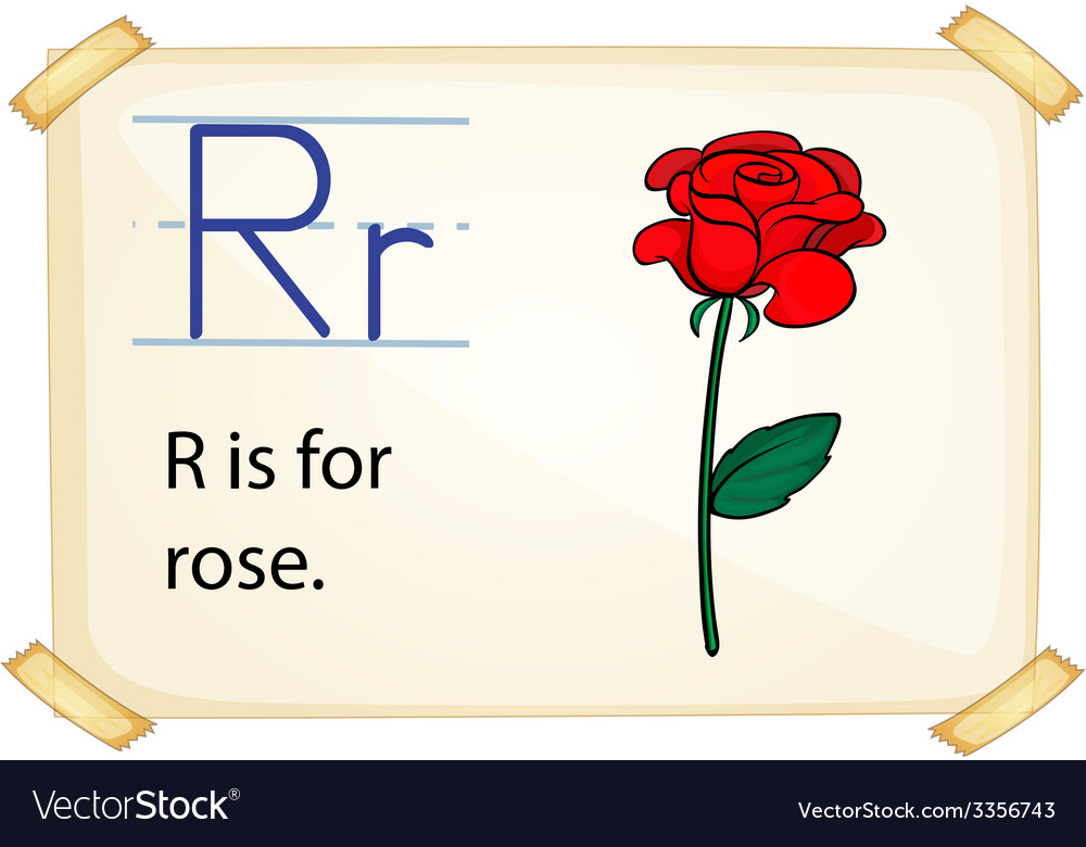 A letter r for rose vector | Price: 3 Credit (USD $3)