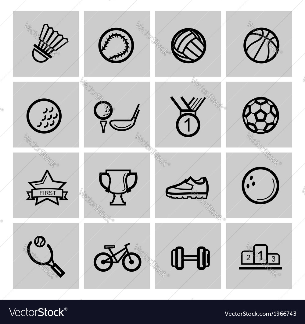 Black sport set vector | Price: 1 Credit (USD $1)
