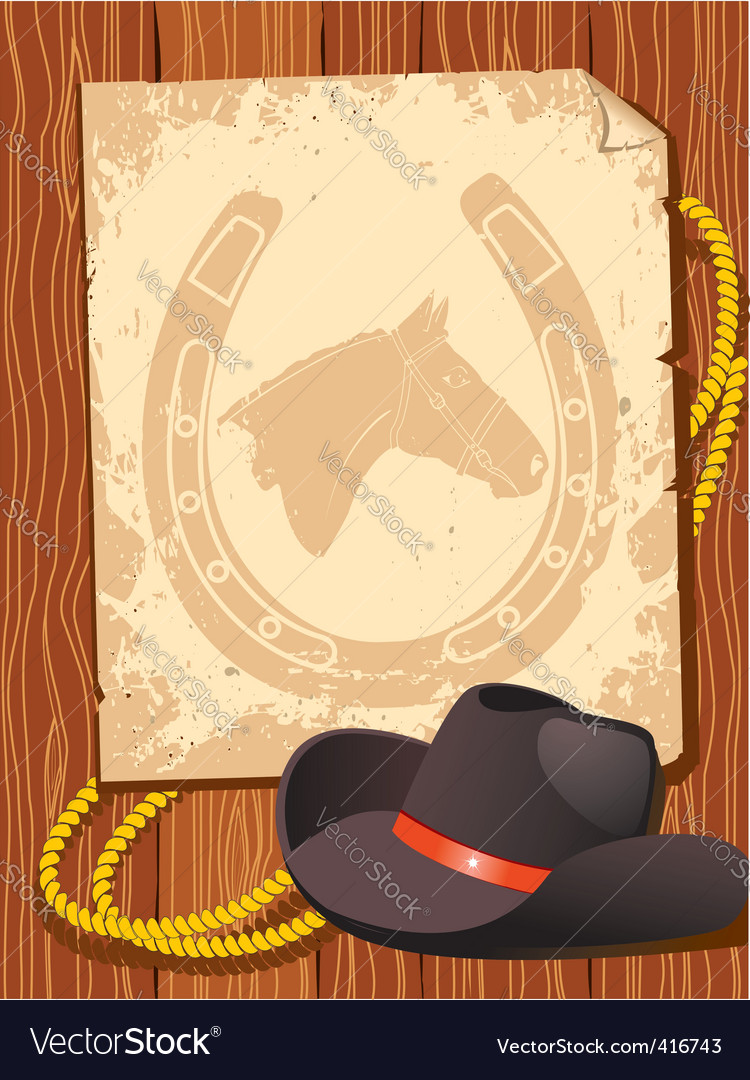 Cowboy elements hat vector | Price: 1 Credit (USD $1)