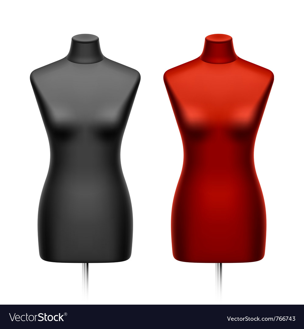 Female tailors dummy mannequin vector | Price: 3 Credit (USD $3)