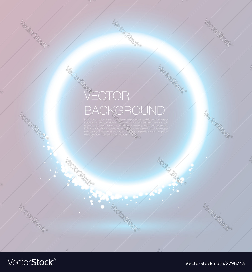 Glowing circle vector | Price: 1 Credit (USD $1)