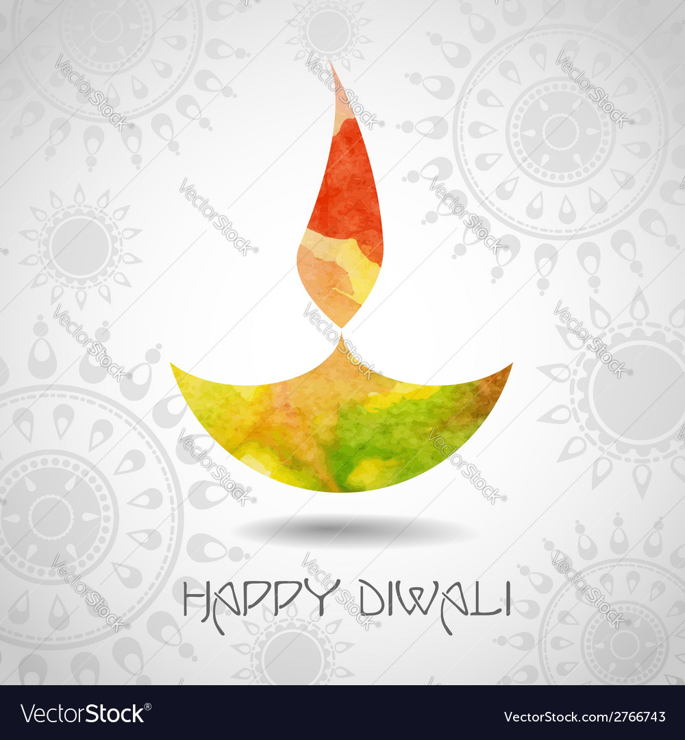 Happy diwali festival vector | Price: 1 Credit (USD $1)