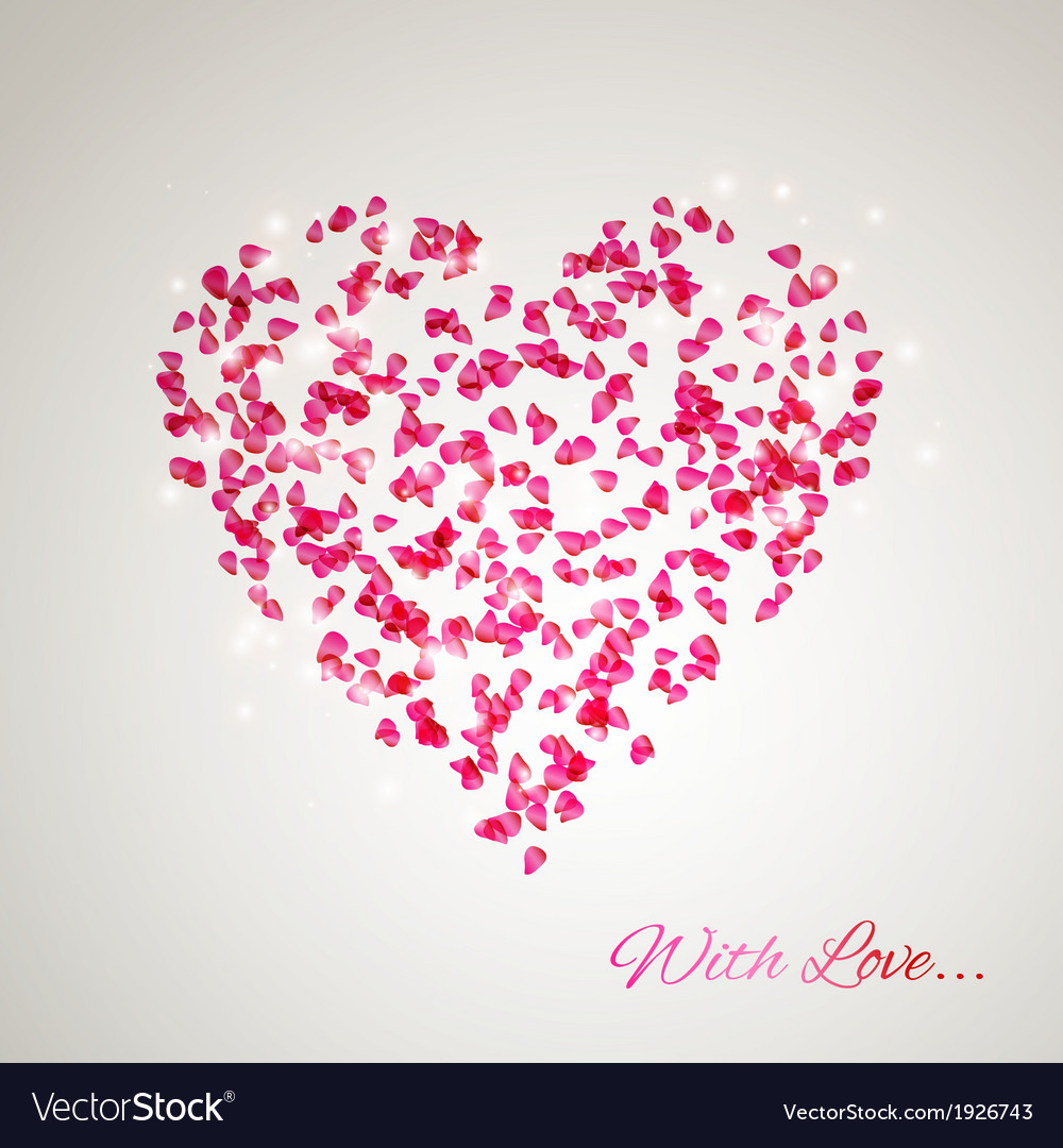 Heart from the gentle rose petals vector | Price: 1 Credit (USD $1)
