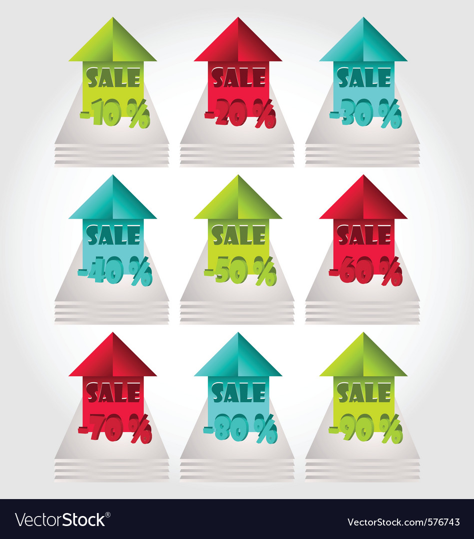 Modern colorful price labels and tags vector | Price: 1 Credit (USD $1)