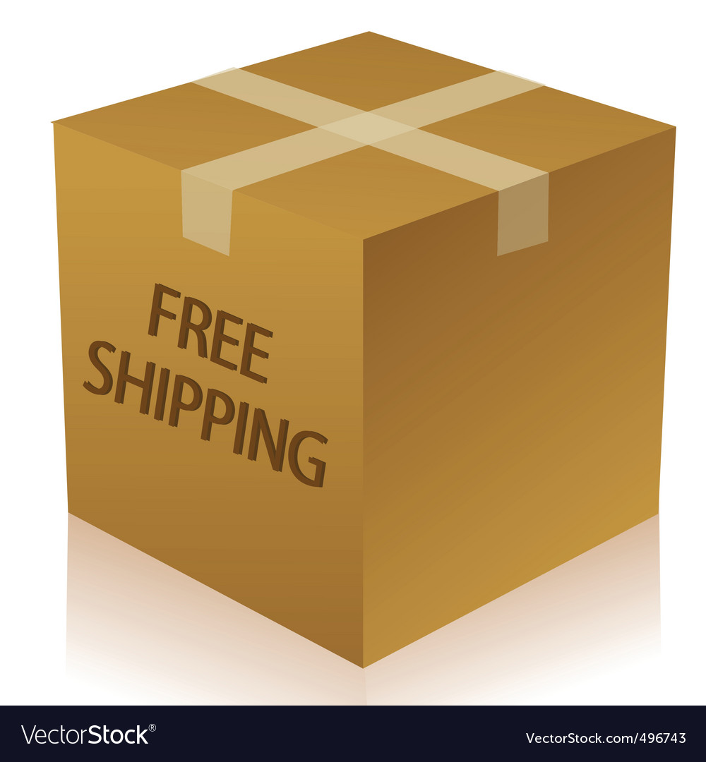 Parcel box vector | Price: 1 Credit (USD $1)