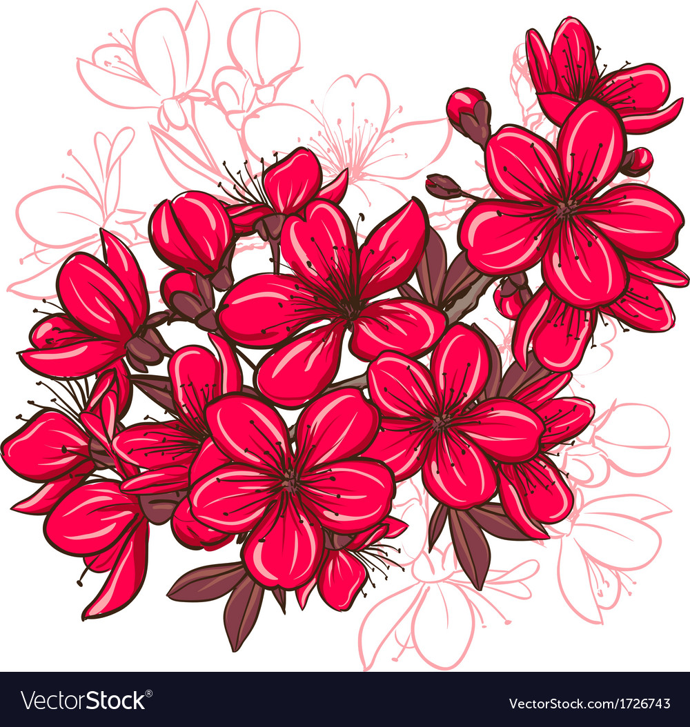 Plum blossom vector | Price: 1 Credit (USD $1)