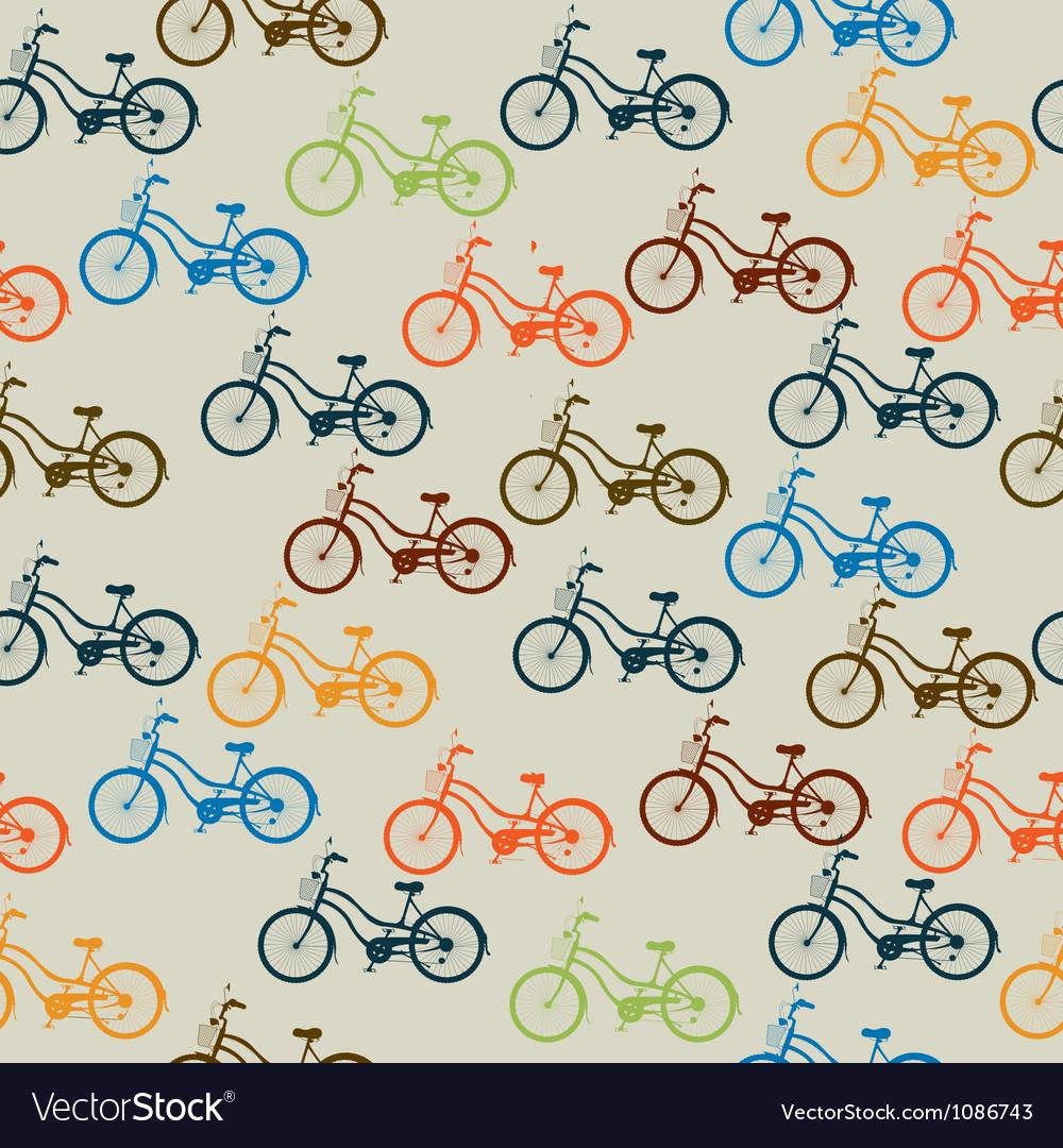 Retro bicycle pattern vector | Price: 1 Credit (USD $1)