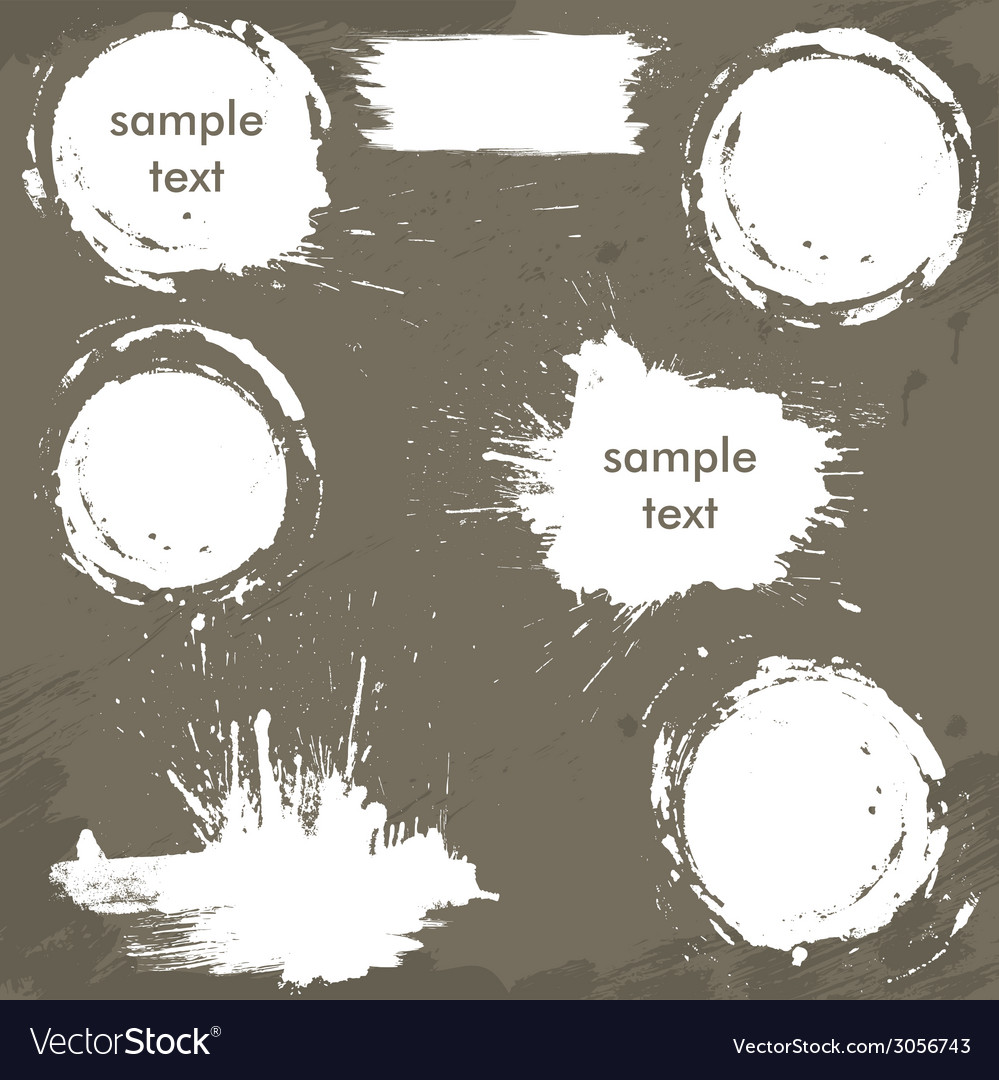 Set of white blots and ink splashes vector | Price: 1 Credit (USD $1)