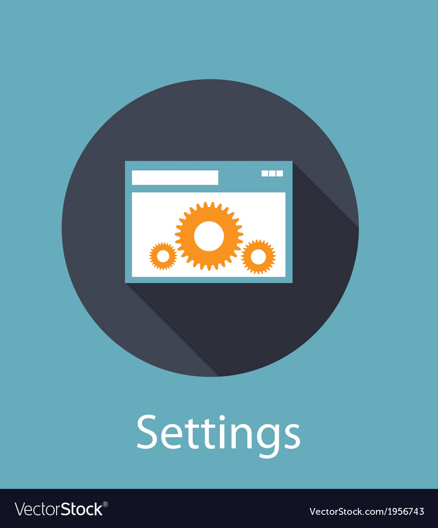 Settings flat concept icon vector | Price: 1 Credit (USD $1)