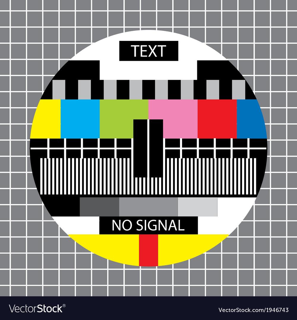 Tv no signal monoscope vector | Price: 1 Credit (USD $1)