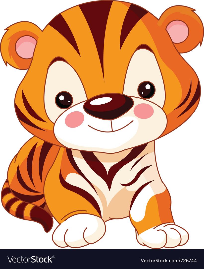 Cartoon tiger vector   Price: 1 Credit (USD $1)