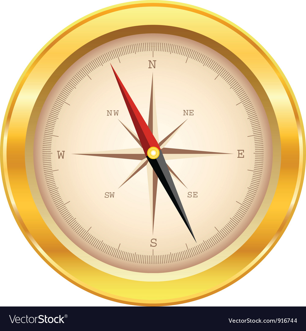 Gold compass vector | Price: 3 Credit (USD $3)