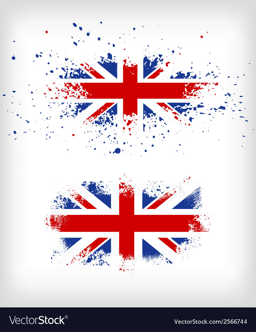 Grunge british ink splattered flag vector | Price: 1 Credit (USD $1)