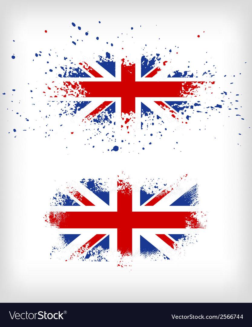 Grunge british ink splattered flag vector | Price: 1 Credit (USD $1)