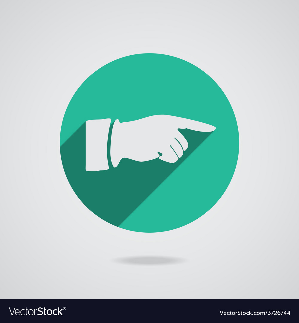 Hand finger icon button for web vector | Price: 1 Credit (USD $1)