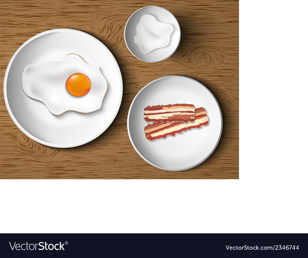 Morning breakfast bacon and eggs vector | Price: 1 Credit (USD $1)