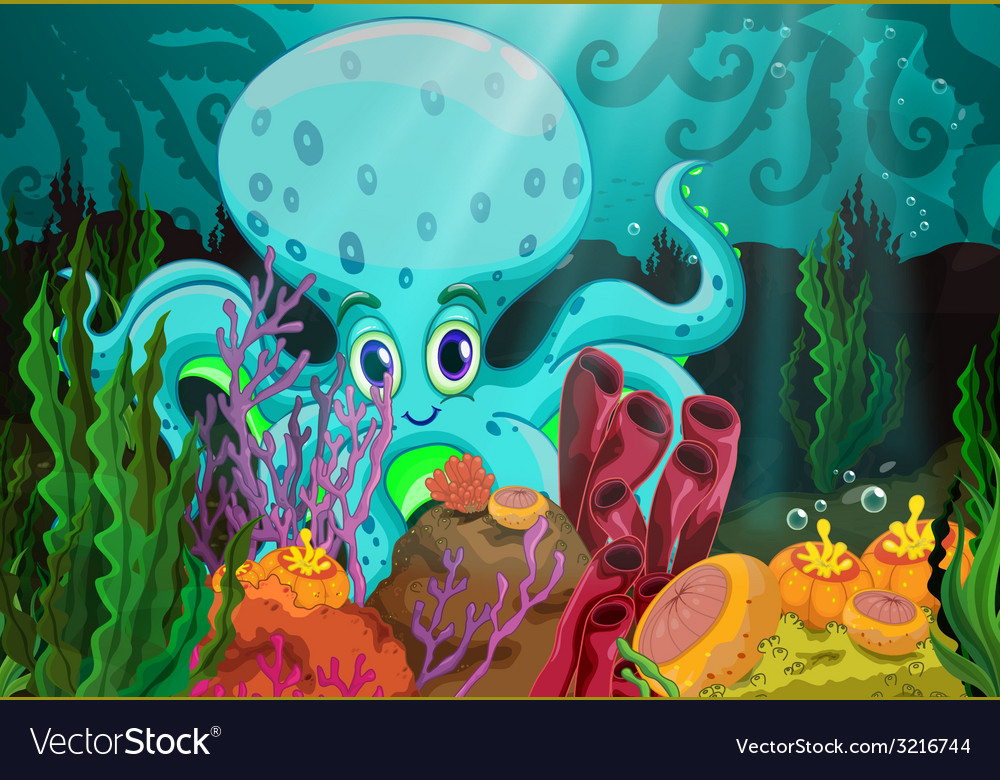 Octopus vector | Price: 3 Credit (USD $3)