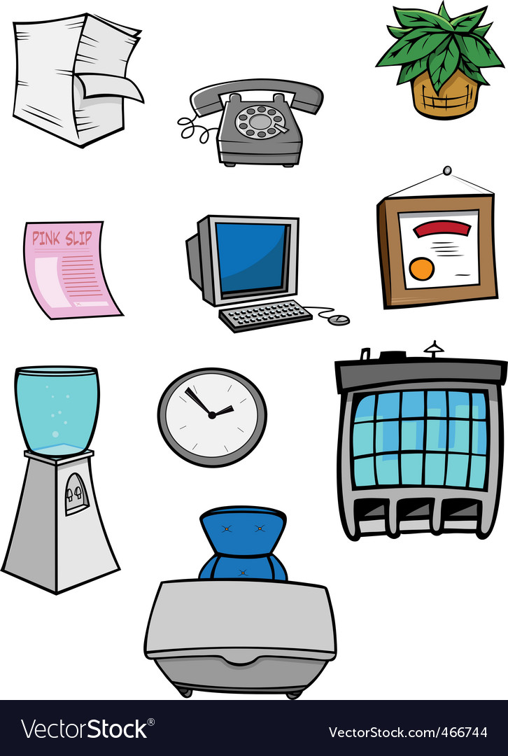 Office stuff vector | Price: 1 Credit (USD $1)
