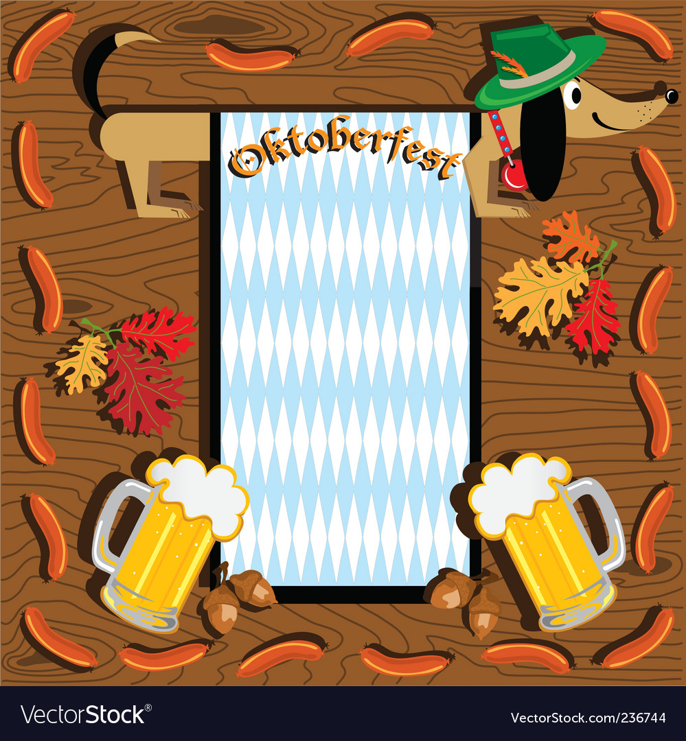 Oktoberfest dachshund vector | Price: 1 Credit (USD $1)