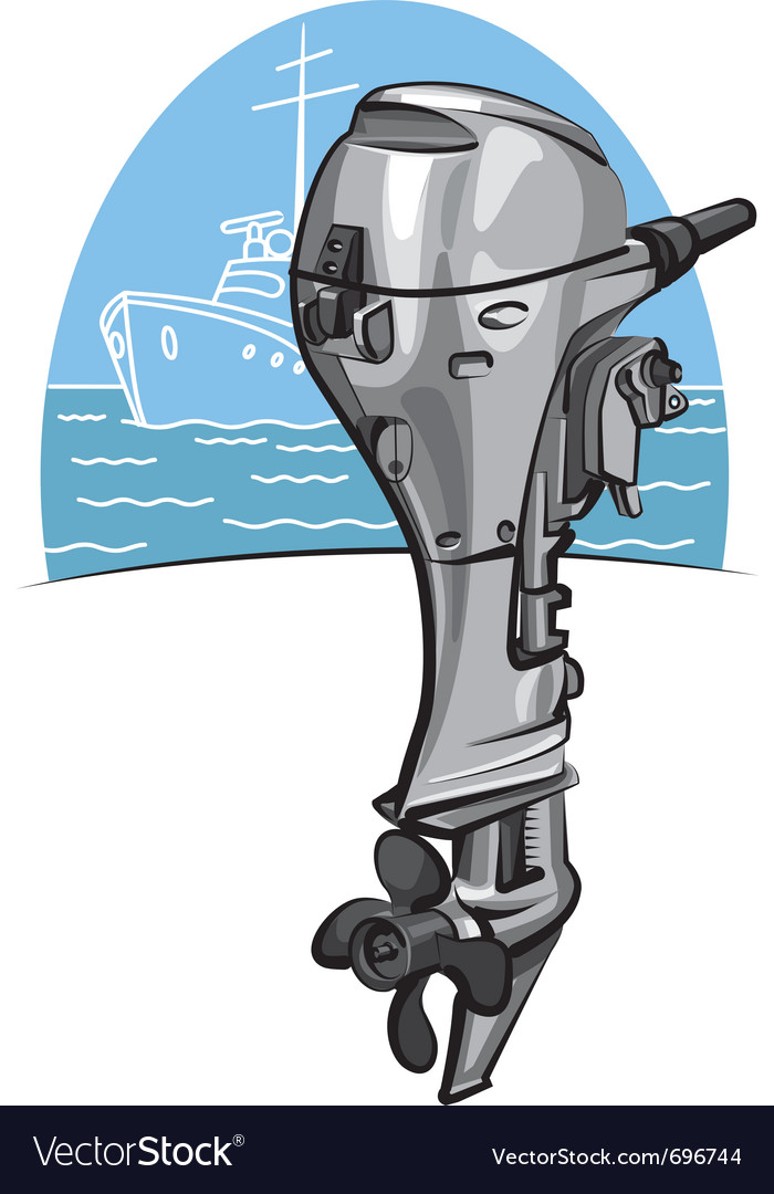 Outboard boat motor vector | Price: 3 Credit (USD $3)