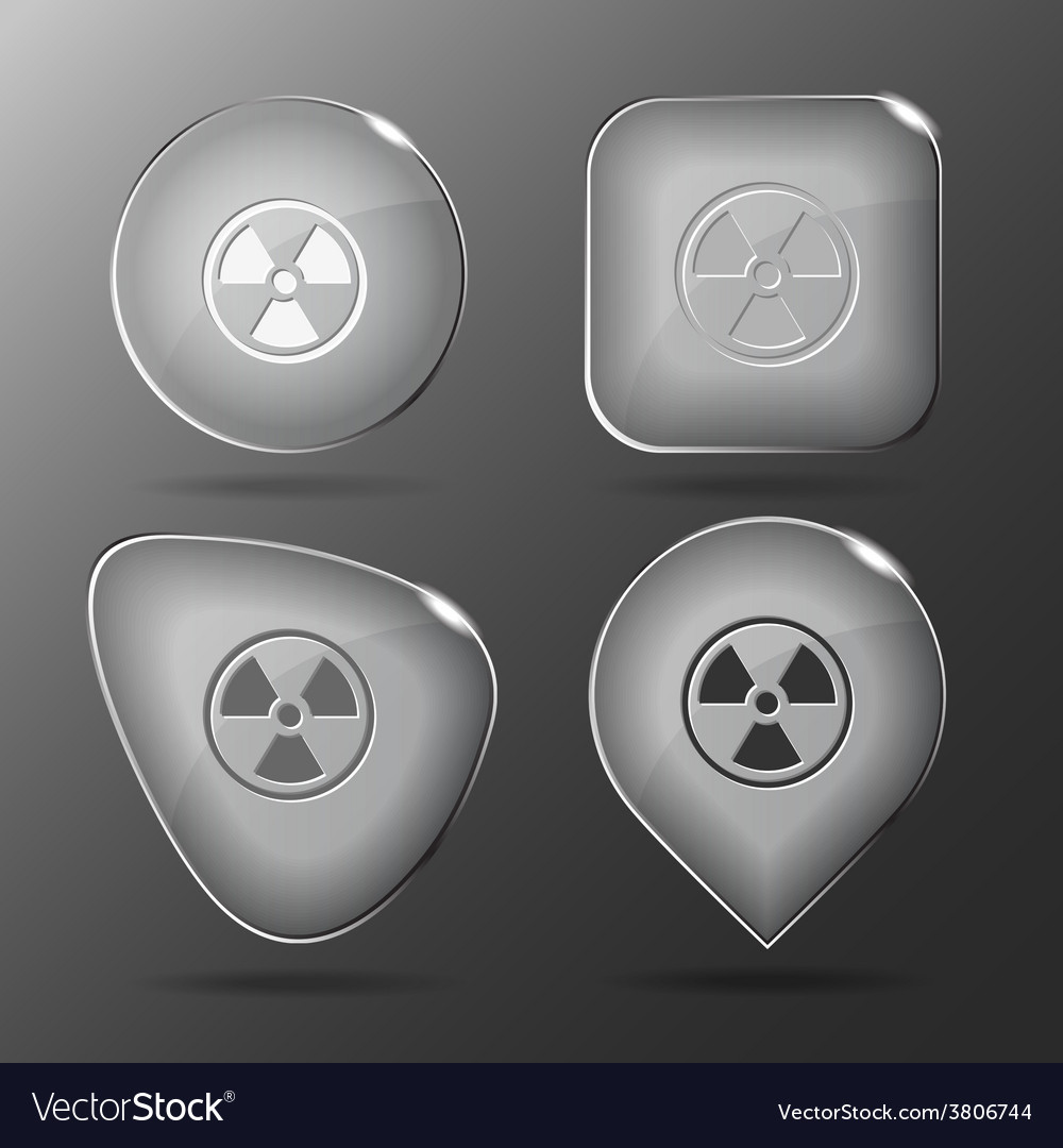 Radiation symbol glass buttons vector | Price: 1 Credit (USD $1)