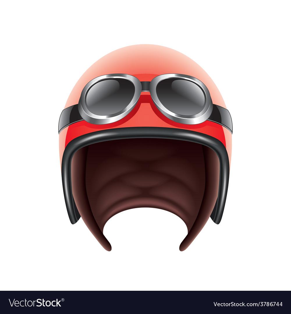 Retro aviator helmet isolated vector | Price: 3 Credit (USD $3)