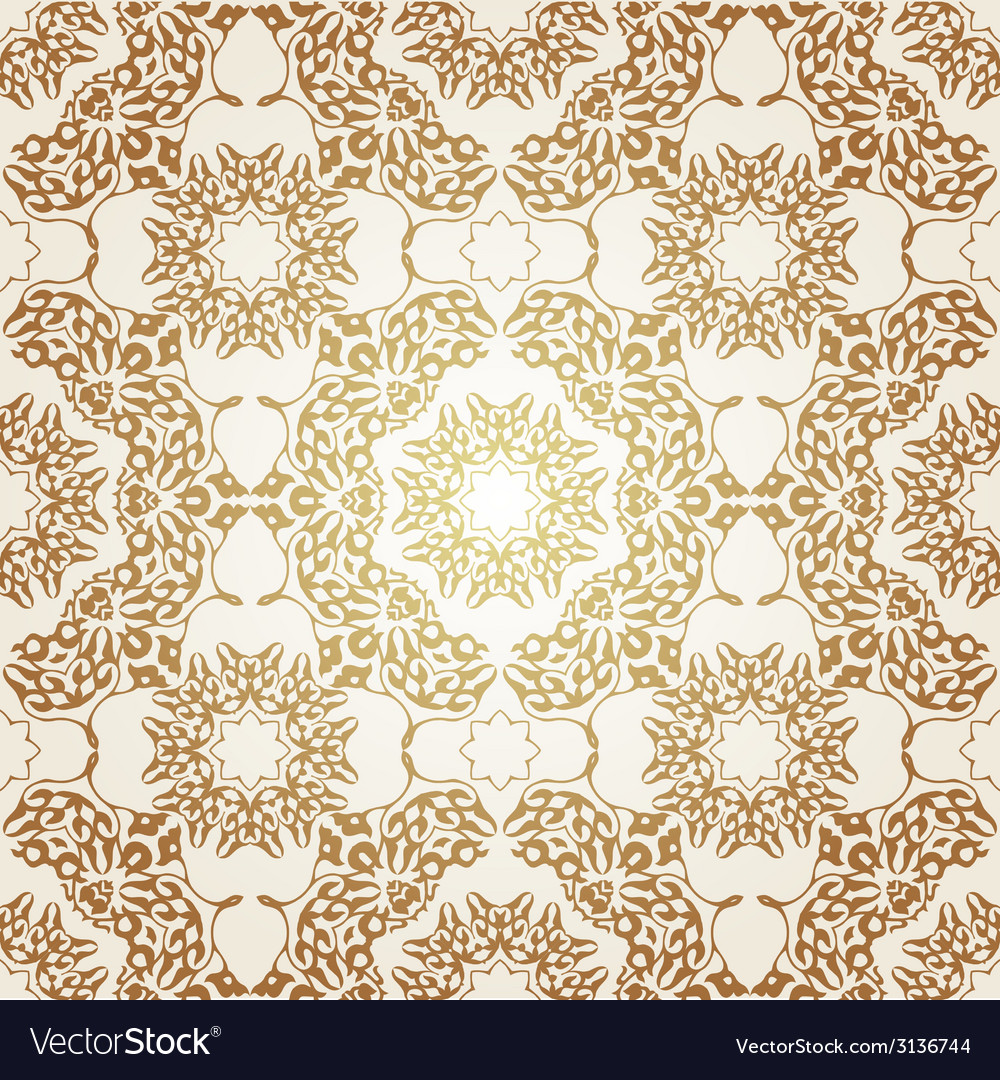 Seamless pattern in victorian style vector | Price: 1 Credit (USD $1)
