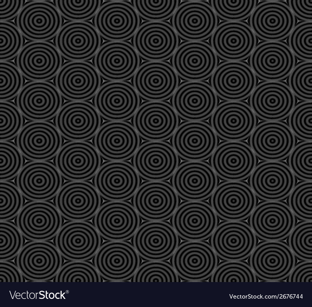 Seamless pattern of overlap black circles vector | Price: 1 Credit (USD $1)
