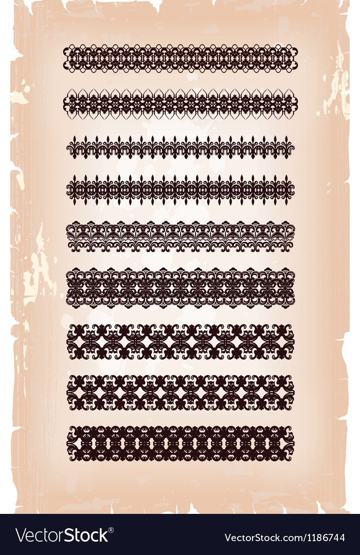Set of antique arabesque patterns vector | Price: 1 Credit (USD $1)