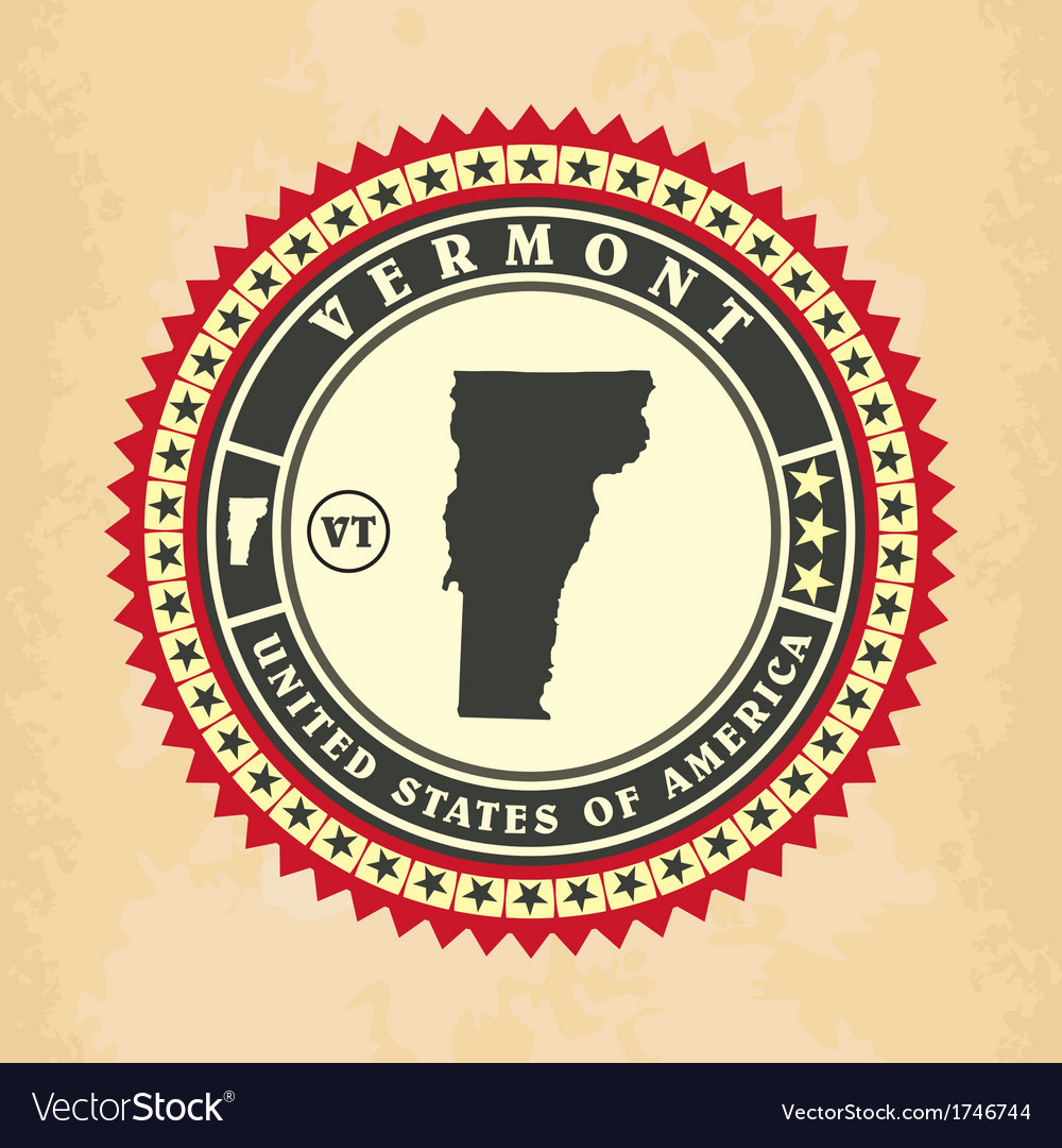 Vintage label-sticker cards of vermont vector | Price: 1 Credit (USD $1)