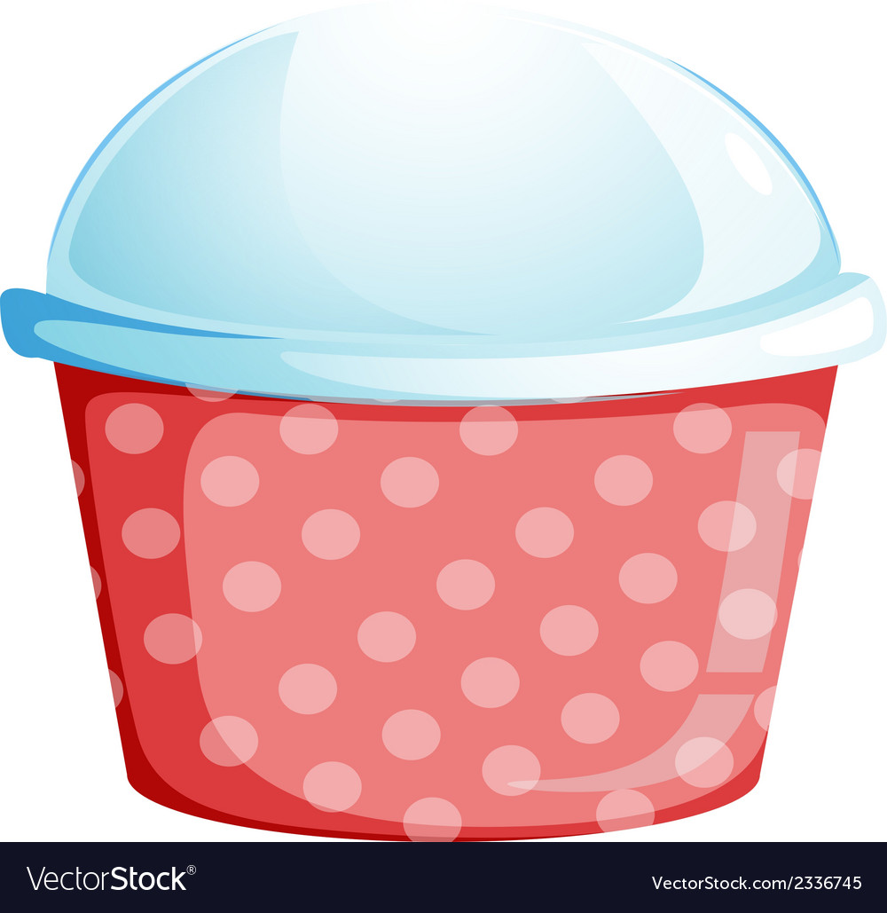 A dotted disposable container vector | Price: 1 Credit (USD $1)