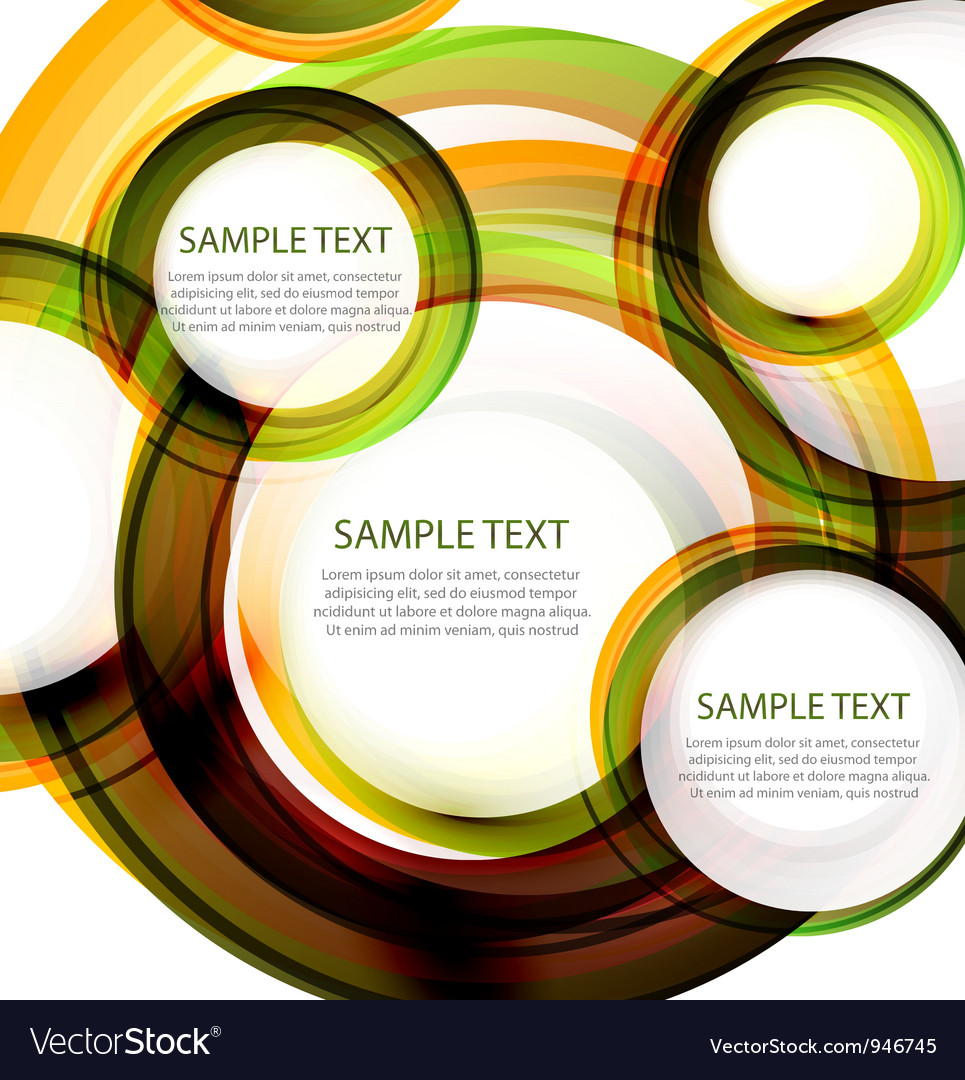 Abstract circles banner with sample text vector | Price: 1 Credit (USD $1)
