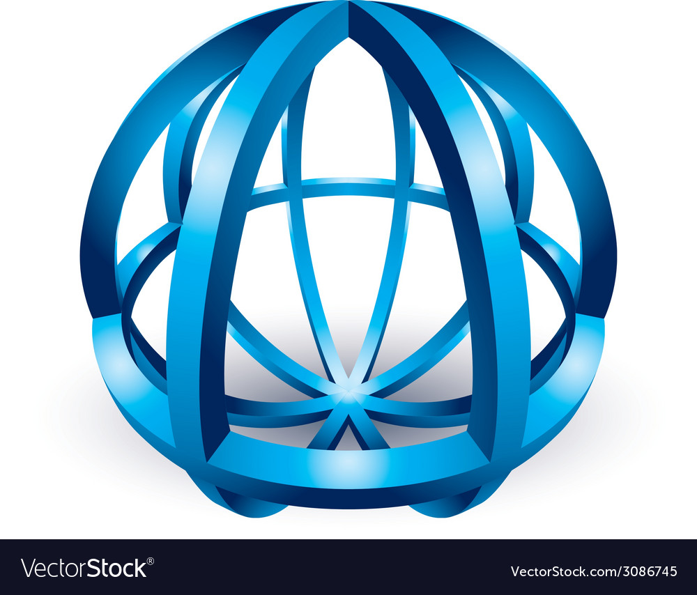 Abstract sphere icon vector | Price: 1 Credit (USD $1)